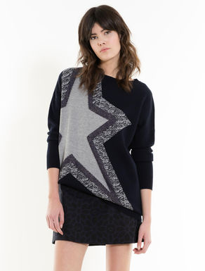 Jacquard jumper with maxi star