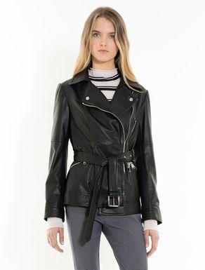 Nappa biker jacket