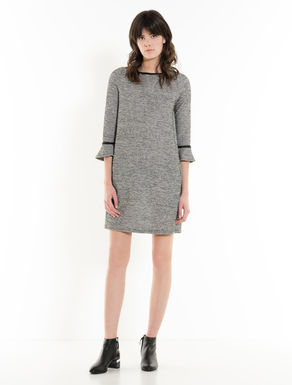 Shift dress di jersey tweed