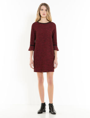 Tweed jersey shift dress