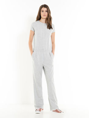 Relaxed fit jersey jumpsuit