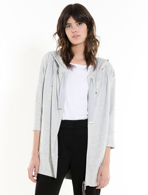 Oversize sweatshirt with drawstring