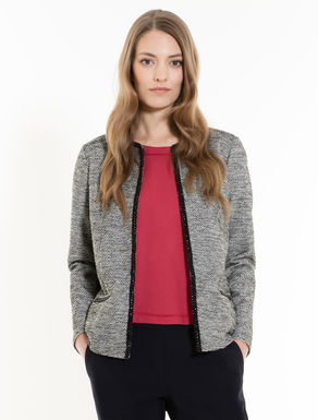 Tweed jersey jacket