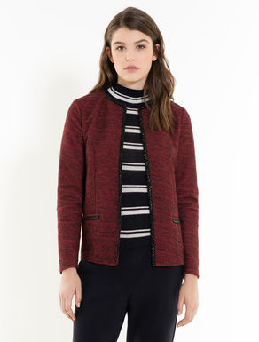 Tweed jersey jacket