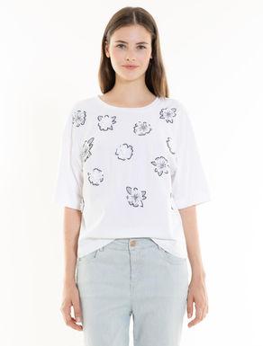 T-Shirt: Applikationen und Stickereien