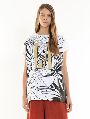 T-shirt con stampa décor