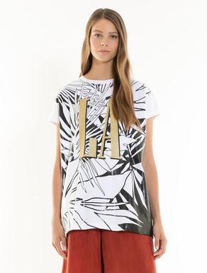 T-shirt à imprimé brillant