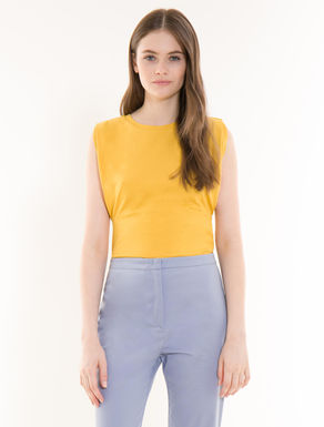 Cotton stretch jersey top