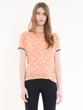 Silk and jersey T-shirt