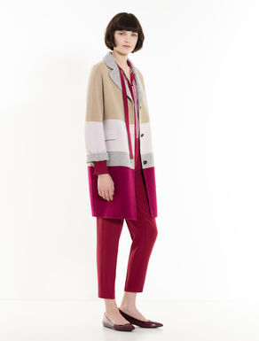 Colour-block coat