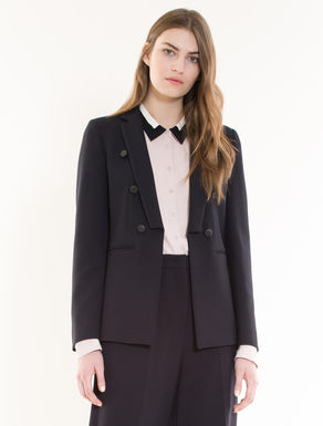 Faux double-breasted blazer