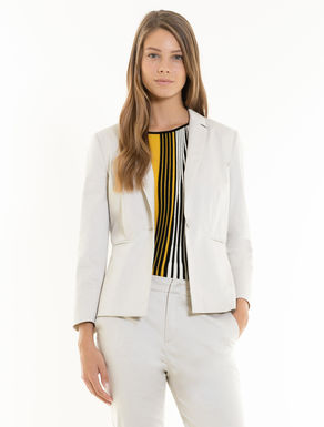 Slim-fit cotton satin blazer