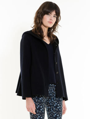 Two-tone double-weave pea coat