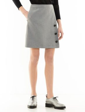 A-line skirt with buttons