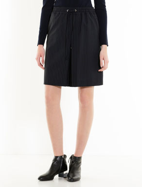 Pinstripe wool skirt