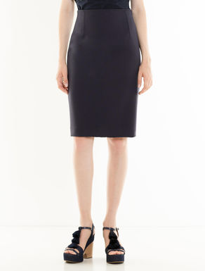 Double fabric sheath skirt