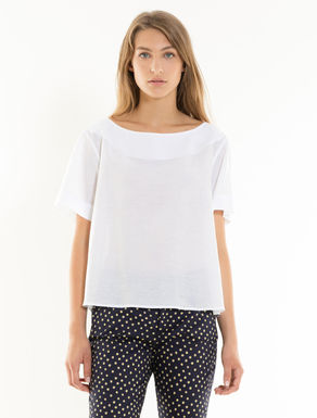 Musselinbluse in A-Linie