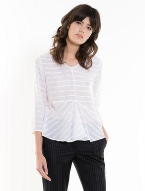 Muslin blouse with flounce