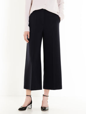 Wide-fit double-weave trousers