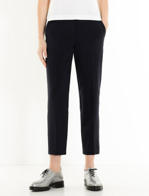 Slim-fit double-weave trousers