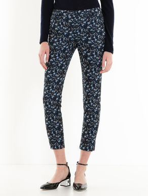 Slim jacquard trousers