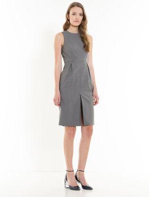 Pinstripe tube dress