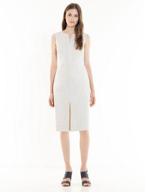 Cotton satin sheath dress