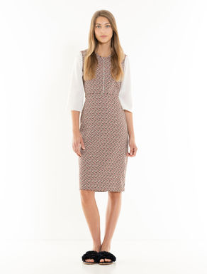 Geometric jacquard tube dress