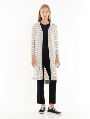 Oversize hooded cardigan