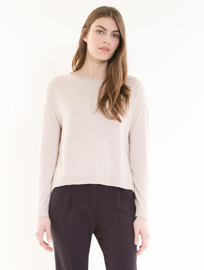 Jumper with georgette flounce