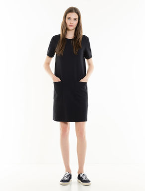 Robe en jersey point tissé