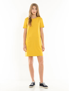 Milano rib jersey dress
