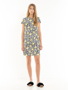 Fluid jersey shift dress