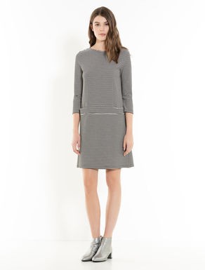 Ottoman jersey shift dress