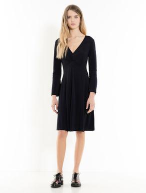 Kleid aus Krepp-Jersey