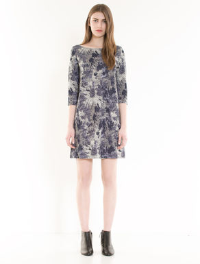 Jacquard jersey shift dress
