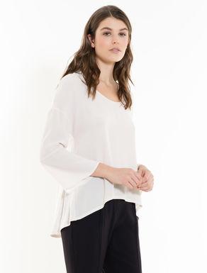Shirt aus Sablé und Jersey