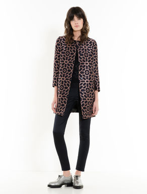 Jacquard overcoat with maxi stars