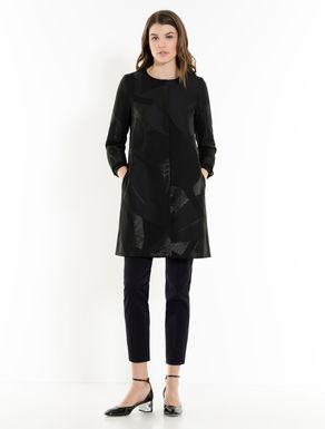 Lamé jacquard overcoat
