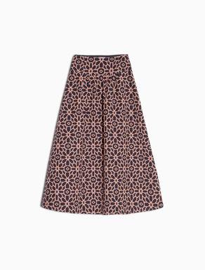 Maxi lamé jacquard skirt