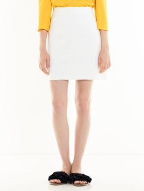 Woven cotton skirt