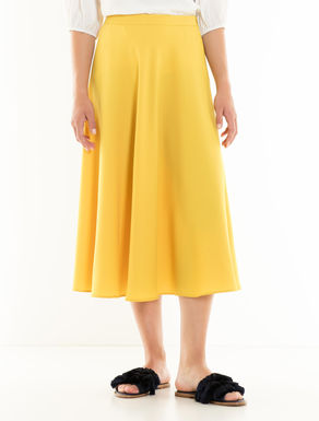 Midi skirt in envers satin