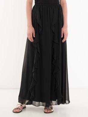 Chiffon skirt with flounce