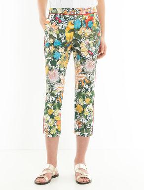 Pantaloni cropped slim di cotone