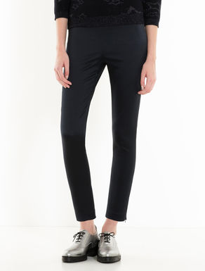 Skinny-fit jacquard trousers
