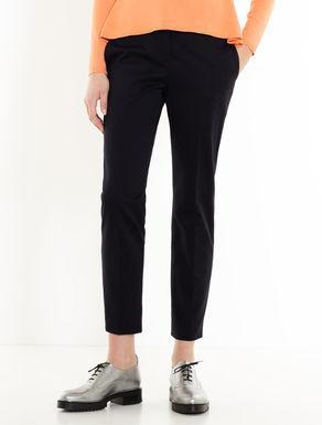 Pantalon slim en ottoman