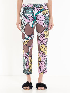 Slim poplin trousers