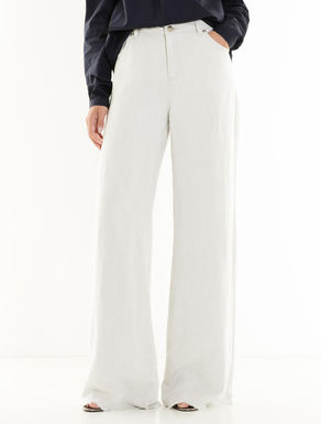 Drill palazzo trousers