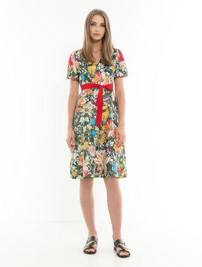 Floral twill dress