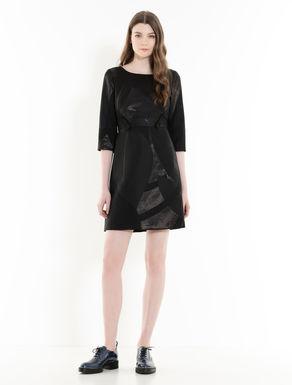 Lamé jacquard dress